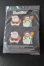 Bucilla #3609 Jeweled Holiday Covers for Switch Plates