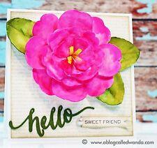 Sizzix Bigz Camellia Flower die #659242 Retail $19.99 designer Brenda Walton
