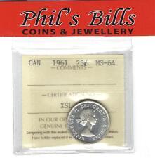 1961 25 CENT ICCS GRADED MS-64 $20.00 #C38