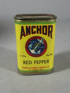 Anchor 1 Ounce Red Pepper Spice Tin / David Evans St Louis