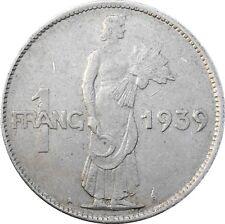 Luxembourg 1 Franc 1939 KM#44 Charlotte (3009)