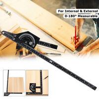 Marking Gauge 0-180° Angle Finder Ruler Measuring Protractor Woodworking Tool