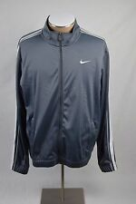 Nike Wolf Gray Long Sleeve Zip up Track Suit Athletic Jacket /w Pockets Size L