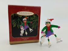 Hallmark Keepsake Ornament On Thin Ice Maxine 1999 Christmas Ice Skates Euc