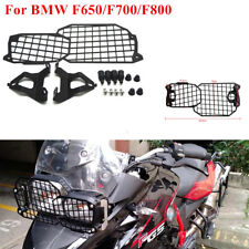 Headlight Lamp Grill Protective Cover +Brackets For BMW F650GS F 800/700/650 GS