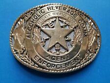 Texas Alcoholic Beverage Comm. Agent Enforcement Belt Buckle 24K Gold Plate