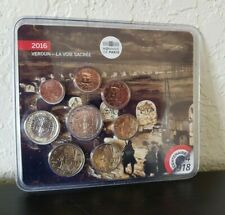 France coins Great War VERDUN The Sacred Way Monnaie de Paris set blister 2016