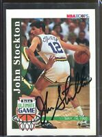 John Stockton 1992-93 Hoops His Ultimate Game Autograph Skybox Stamp Auto *1