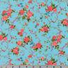 Shabby Rose Sky Blue Cassandra Robert Kaufman Cotton Quilting Fabric