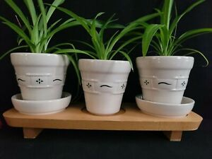 Longaberger Planter Set with Wooden Stand