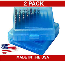 MTM P-100-22-24 ,  22LR and 25ACP Ammo Box - 100 Round - BLUE - 22 LR - TWO PACK