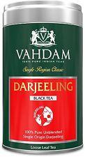 Darjeeling Tea, Tin Caddy, 100% Pure, Unblended Loose Leaf Black Tea 3.53oz
