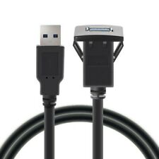 Single Port Flush Mount Extension Usb 3.0 Dashboard Cable Square Panel Durable