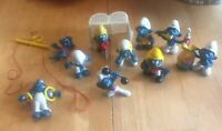The Smurfs Vintage Lot Of 10 Assorted Figures