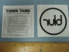 BLUR 2002 Think Tank UK promotional Iron On Transfer New Old Stock Flawless