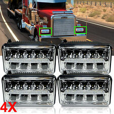 For Freightliner Classic FLD120 FLD112 4x6'' LED Headlight DRL High&Low Beam 4X