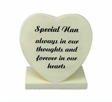 Special Nan ~ Handcrafted Heart Plaque Graveside Memorial Ornament 25328