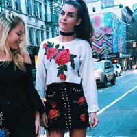 New Fashion Women Lady Long Sleeve Shirt Casual Blouse Loose Cotton Tops T Shirt