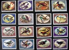 1993 ZAMBIA BIRD STAMPS SET OF 16 MNH SUNBIRDS BIRDS BRONZE OLIVE COPPER MARICO
