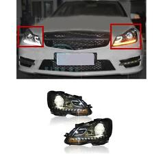 HID Headlights For Mercedes-Benz W204 2011-2014 LED DRL Projector Headlamps