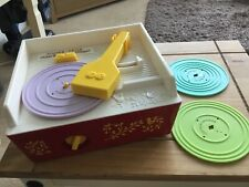 Retro Fisher Price Music Box Record Player 2010 Complete With 3 Records