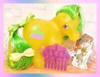 ❤️My Little Pony MLP G1 Vtg MAIL ORDER MO Napper Green Hair Glitter Moon❤️