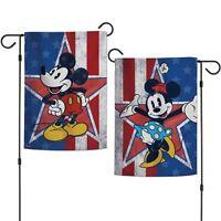 "Disney Mickey and Minnie Love Happens 12/"" x 18/"" Premium Decorative Garden Flag"