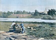 RUSSIA,  old palace of Tzaritzine.......Antique  photochrom, late 19th century