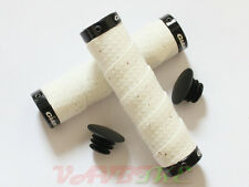 Giant Faux Carbon Double Lock-On White Color Handlebar Tape Grips