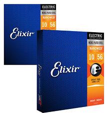 Elixir 12057 Nanoweb Cuerdas para guitarra eléctrica, luz de 7 cuerdas, 10-56 (2 Pack)