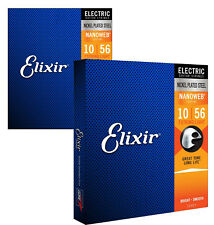 Elixir 12057 Nanoweb Electric Guitar Strings, 7-String Light, 10-56 (2 Pack)