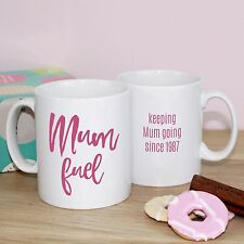 Mum Fuel MUG GIFT for Mother's Day - personalised for Mam Gin Prosecco Tea Lover