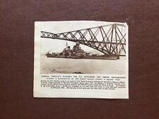 f1a ephemera 1947 picture u s battleship new jersey forth bridge