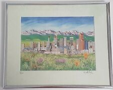 Limited Edition Calgary Alberta Skyline Picture Art Print W.A. Boyd Framed