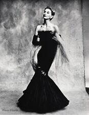 1950 Vintage IRVING PENN Vogue Female Fashion Marcel Rochas Gown Paris Photo Art
