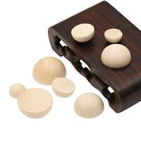 15-30MM Hölzern Primärfarbe Halber Ball Perlen Holzkugeln DIY Gemalte Hemisphäre