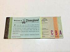 Disneyland Adult Ticket Books 1974 11 Tickets  C B & A Tickets