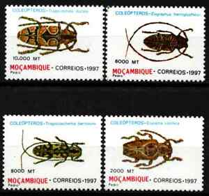 MOZAMBIQUE 1997 - SET INSECTS / BEETLES MNH