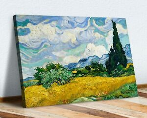 VAN GOGH CANVAS WALL ART PRINT ARTWORK PICTURE Wheat Field with Cypresses