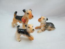 Vintage Miniature Bone China Dog figurines - 3 Fox Terrier