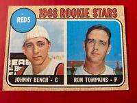 1968 Topps Johnny Bench Rookie Baseball Card