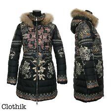 PIUMINO DONNA giacca giubbotto lungo cappotto invernale giaccone pelliccia 26659