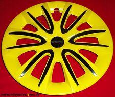 4 Radkappen FREE gelb glanz-schwarz mit 2 x Klarlack 15 Zoll--NEU--TOP