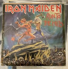 """Iron Maiden """"Run To The Hills/Total Eclipse"""" 7inch Single First Italian Press"""