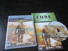 Playstation 3 PS3 complete in box Call of Duty Modern Warefare 2 tested