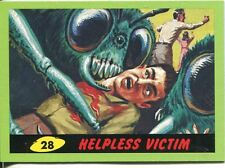 Mars Attacks Heritage Green Parallel Base Card #28    Helpless Victim