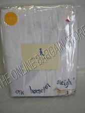 Pottery Barn Kids Jingle Bells Christmas Holiday Embroidered Bed Crib Skirt Baby