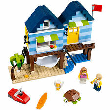 LEGO Creator Beachside Vacation and Boatside Harbor 275 Piece Building Kit 31063