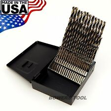 Norseman 60pc HI-Moly M7 NUMBER Wire Gauge Drill Bit Set w Index #1-60 USA SP-60