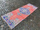 Handmade rug, Runner rug, Turkish rug, Vintage, Wool rug, Carpet   2,8 x 8,5 ft